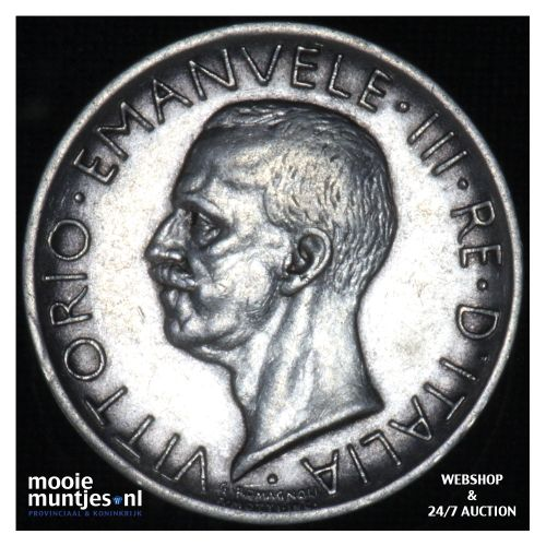 5 lire - decimal coinage - Italy 1927 (KM 67.1) (kant B)