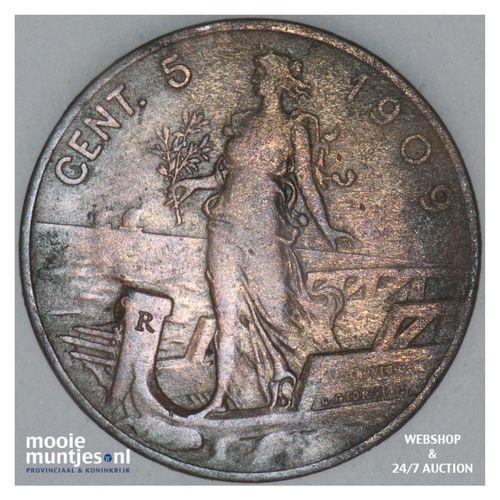 5 centesimi - Italy 1909 (KM 42) (kant A)