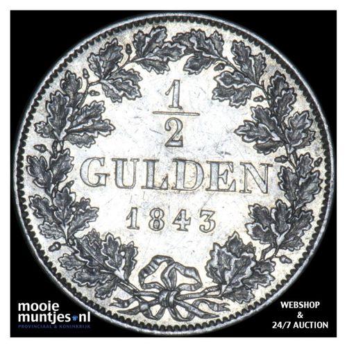1/2 gulden - German States/Bavaria 1843 (KM 794) (kant A)