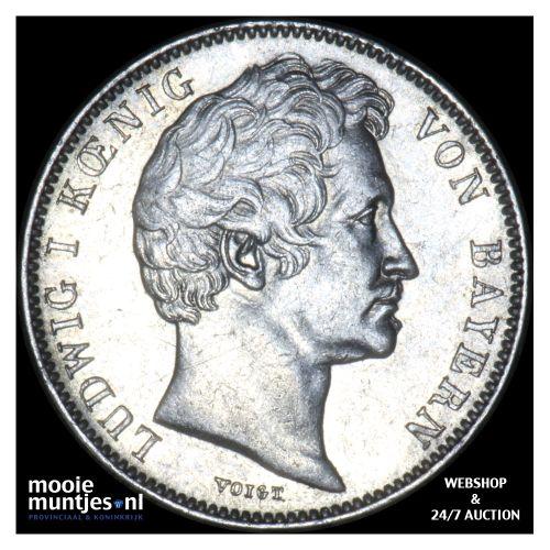 1/2 gulden - German States/Bavaria 1843 (KM 794) (kant B)
