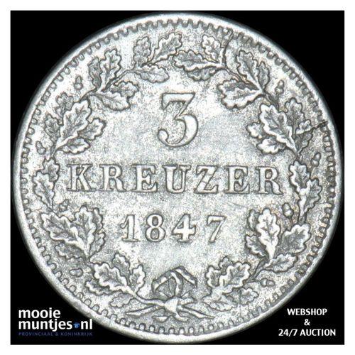 3 kreuzer (groschen) - German States/Bavaria 1847 (KM 800) (kant A)