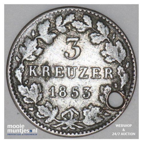 3 kreuzer (groschen) - German States/Bavaria 1853 (KM 800) (kant A)