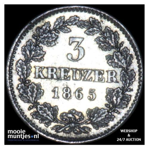 3 kreuzer (groschen) - German States/Bavaria 1865 (KM 875) (kant A)