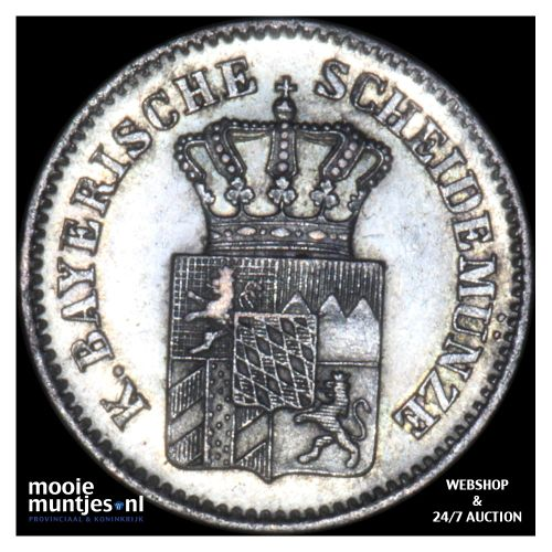 3 kreuzer (groschen) - German States/Bavaria 1865 (KM 875) (kant B)