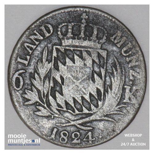 6 kreuzer - German States/Bavaria 1824 (KM 686) (kant A)