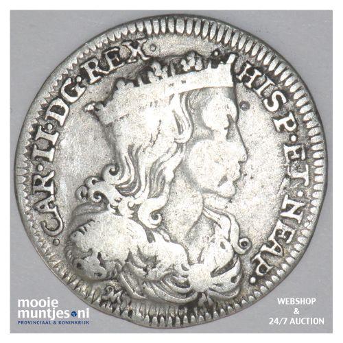 carlino - kingdom - Italian States/Naples & Sicily 1691 (KM 116) (kant B)