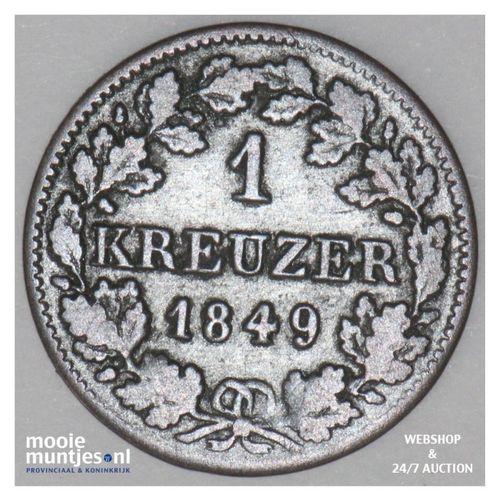 kreuzer - German States/Bavaria 1849 (KM 799) (kant A)