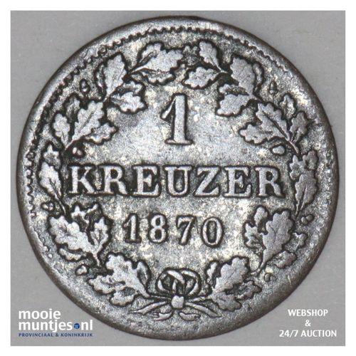 kreuzer - German States/Bavaria 1870 (KM 873) (kant A)