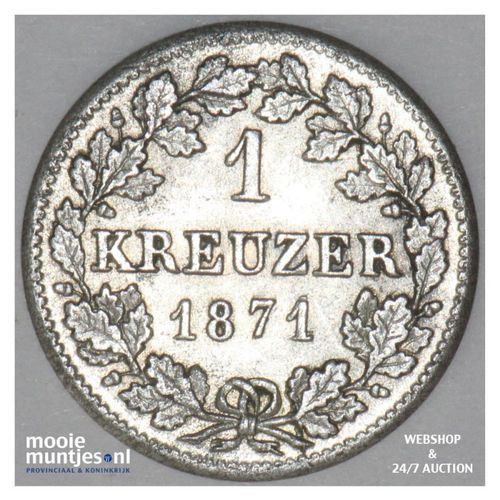 kreuzer - German States/Bavaria 1871 (KM 873) (kant A)