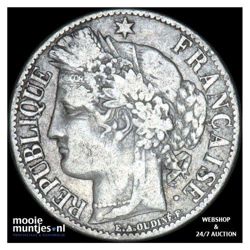 franc - France 1871 A (KM 822.1) (kant B)
