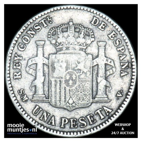 peseta - kingdom - Spain 1901 (KM 706) (kant B)