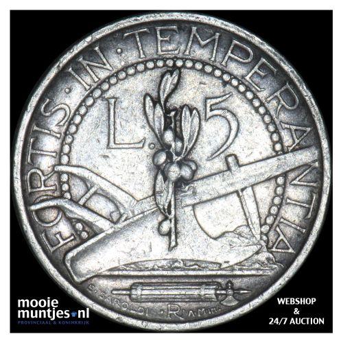 5 lire - San Marino 1936 (KM 9) (kant B)