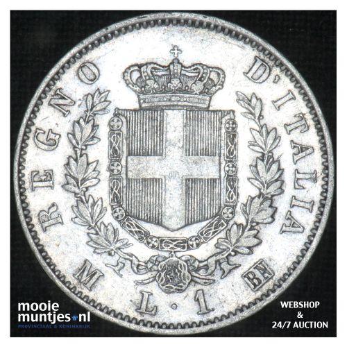 lira - Italy 1863 M (KM 5a.1) (kant B)