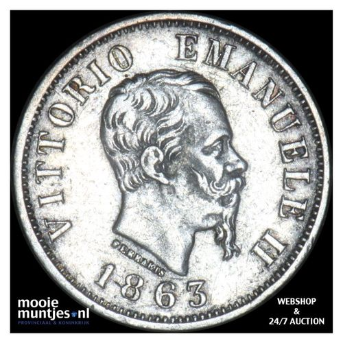 50 centesimi - Italy 1863 M (KM 14.1) (kant A)