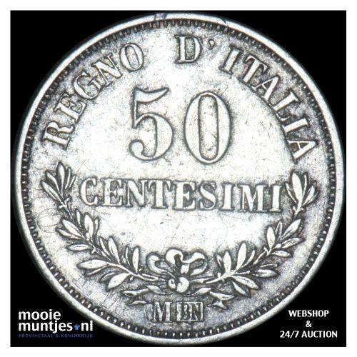 50 centesimi - Italy 1863 M (KM 14.1) (kant B)