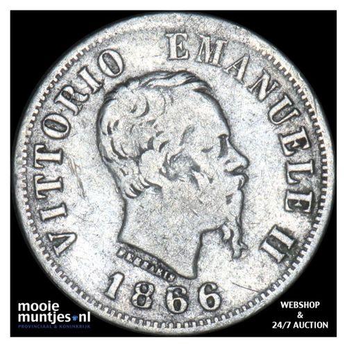 50 centesimi - Italy 1866 M (KM 14.1) (kant A)