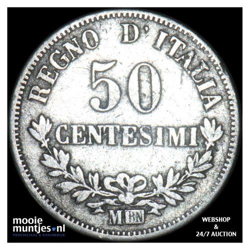50 centesimi - Italy 1866 M (KM 14.1) (kant B)