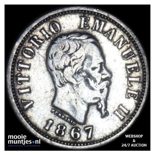 50 centesimi - Italy 1867 M (KM 14.1) (kant A)