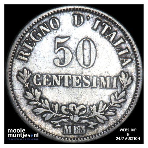 50 centesimi - Italy 1867 M (KM 14.1) (kant B)