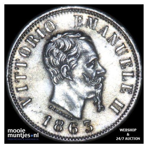 50 centesimi - Italy 1863 N (KM 14.2) (kant A)