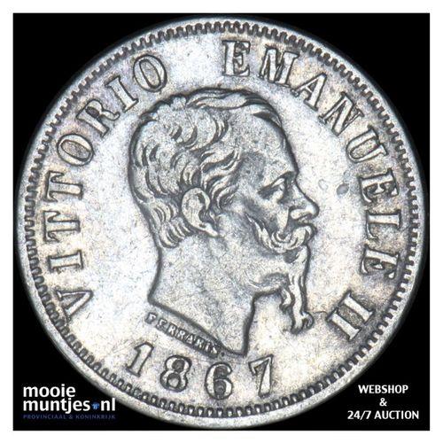 50 centesimi - Italy 1867 N (KM 14.2) (kant A)