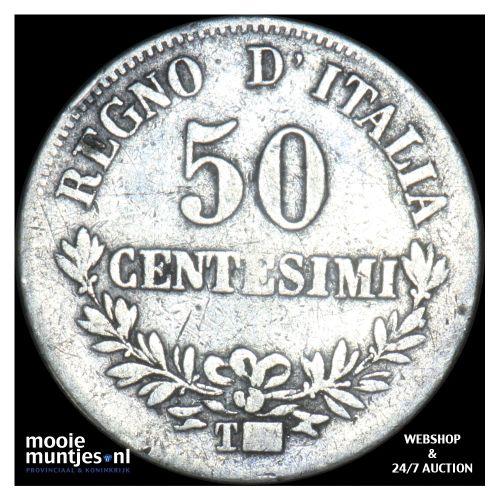 50 centesimi - Italy 1863 T (KM 14.3) (kant B)