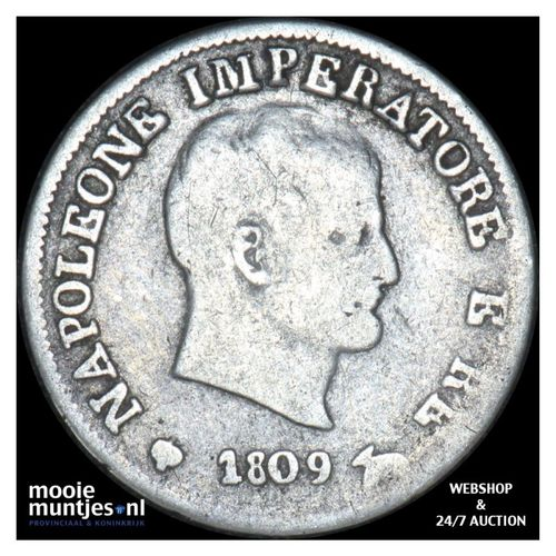 10 soldi - Italian States/Kingdom of Napoleon 1809 M (KM C# 6.1) (kant A)
