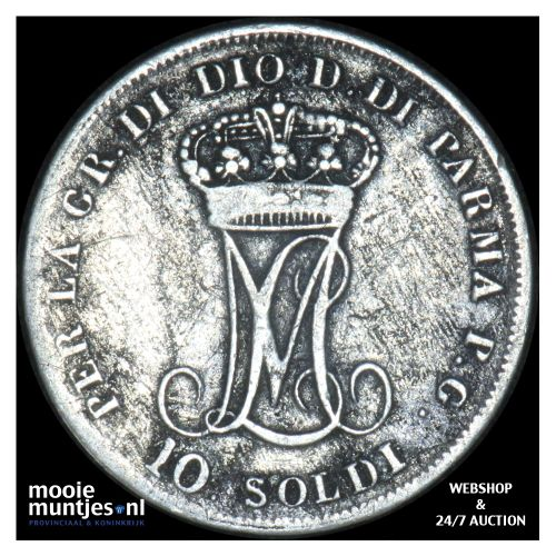 10 soldi - Italian States/Parma 1815 (KM C# 27) (kant B)