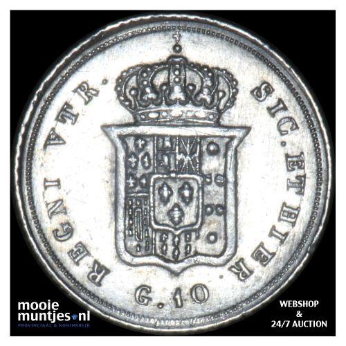 10 grana - Italian States/Naples 1836 (KM 323) (kant B)
