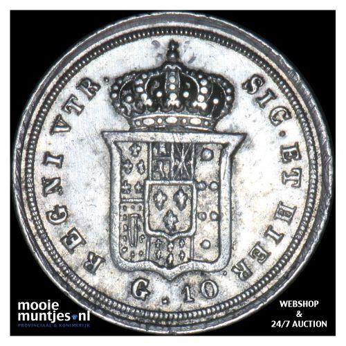 10 grana - Italian States/Naples 1841 (KM 328) (kant B)