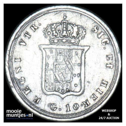 10 grana - Italian States/Naples 1855 (KM 364) (kant B)