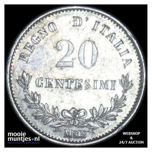 20 centesimi - Italy 1863 M (KM 13.1) (kant B)