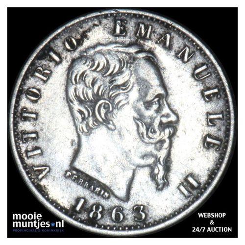 20 centesimi - Italy 1863 M (KM 13.1) (kant A)