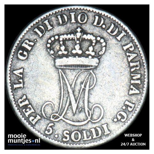 5 soldi - Italian States/Parma 1815 (KM C# 26) (kant B)