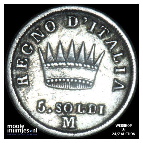 5 soldi - Italian States/Kingdom of Napoleon 1811 (KM C# 5.1) (kant B)