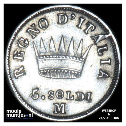 5 soldi - Italian States/Kingdom of Napoleon 1812 (KM C# 5.1) (kant B)