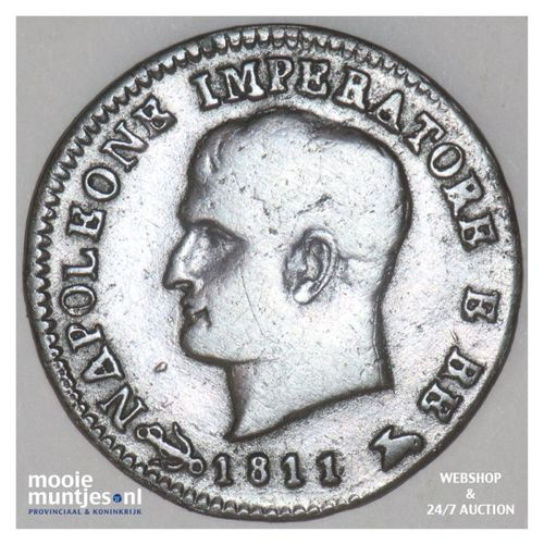 centesimo - Italian States/Kingdom of Napoleon 1811 V (KM C# 1.3) (kant A)