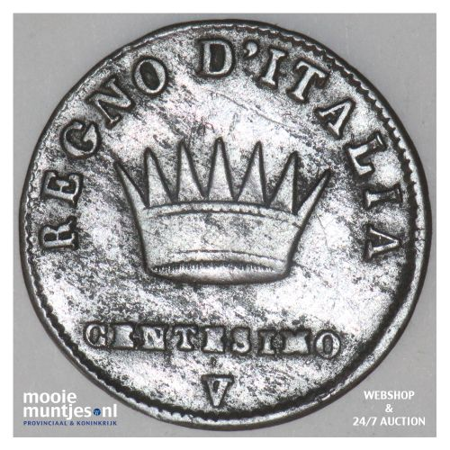 centesimo - Italian States/Kingdom of Napoleon 1811 V (KM C# 1.3) (kant B)