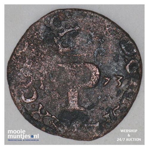 Holland - Penning of halve duit - 1573 (kant A)