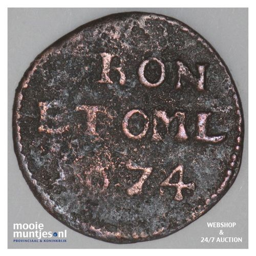 Groningen - Duit - 1674 (kant A)