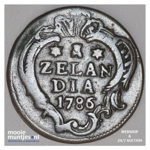 Zeeland - Duit - 1786 over 85 (kant A)