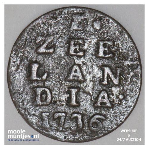 Zeeland - Duit - 1736 (kant A)