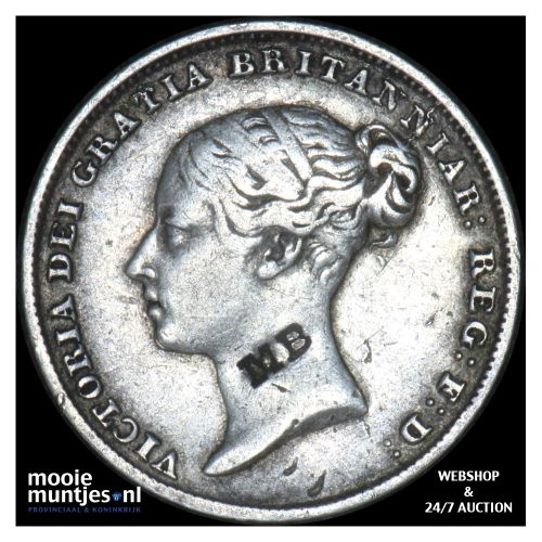 6 pence - Great Britain 1846 (KM 733.1) (kant B)