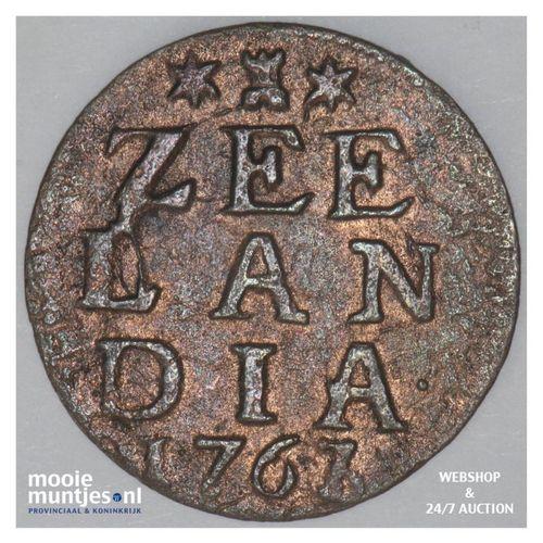Zeeland - Duit - 1763 over 61 (kant A)
