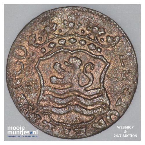 Zeeland - Duit - 1763 over 61 (kant B)