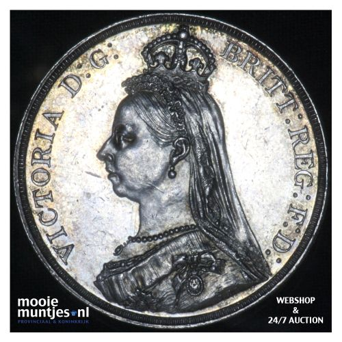crown - Great Britain 1887 (KM 783) (kant B)