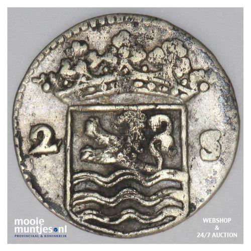 Zeeland - Dubbele wapenstuiver - 1727 (kant B)