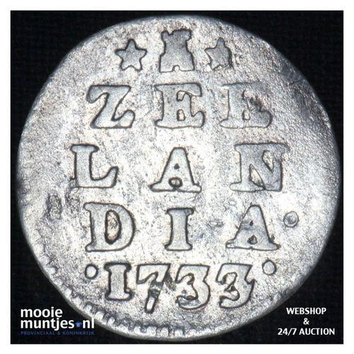 Zeeland - Dubbele wapenstuiver - 1733 over 24 (kant A)
