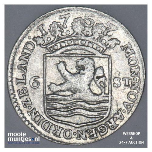 Zeeland - Scheepjesschelling - 1757 over 56 (kant A)