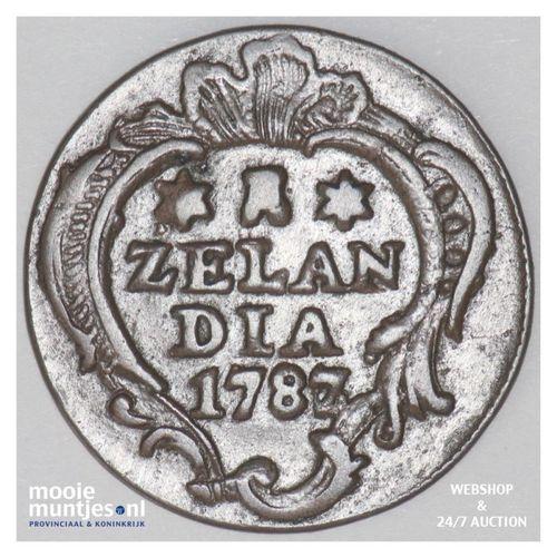 Zeeland - Duit - 1787 over 86 (kant A)